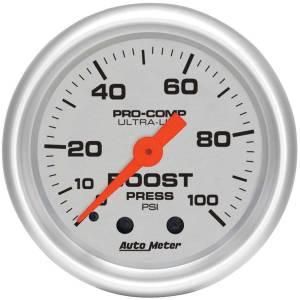 AUTO METER #4306 2-1/16in U/L Boost Gauge 0-100psi
