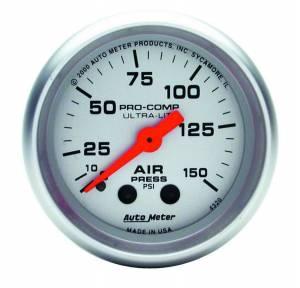 AUTO METER #4320 2-1/16in U/L Air Press. Gauge 0-150psi