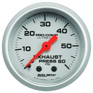 AUTO METER #4325 Exhaust Pressure Gauge 0-60psi Ultra-Lite