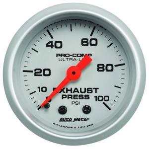 AUTO METER #4326 Exhaust Pressure Gauge 0-100psi Ultra-Lite