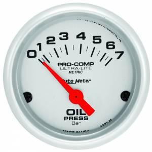 AUTO METER #4327-M 2in U/L Oil Pressure Gauge - 0-7 Bars