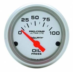 AUTO METER #4327 2-1/16in U/L Oil Pressure Gauge 0-100psi