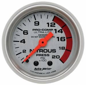 AUTO METER #4328 2-1/16in U/L NOS Pressure Gauge 0-2000psi