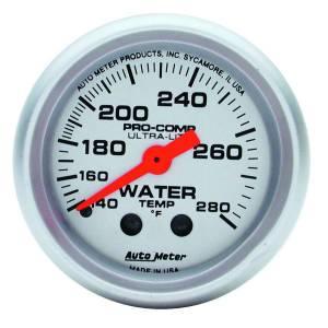 AUTO METER #4331 2-1/16in U/L Water Temp Gauge 140-280