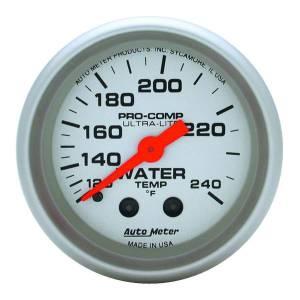 AUTO METER #4333 2-1/16in U/L Water Temp Gauge 120-240
