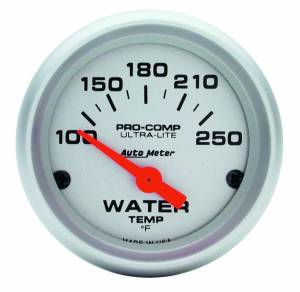 AUTO METER #4337 2-1/16in U/L Water Temp Gauge 100-250