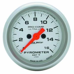 AUTO METER #4344 2-1/16in U/L EGT Pyrometer Kit 0-1600