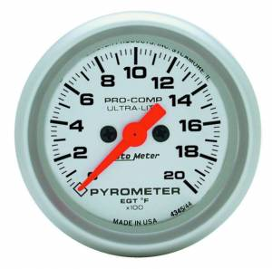 AUTO METER #4345 2-1/16in U/L 2000 Degree Pyrometer