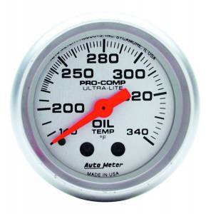 AUTO METER #4346 2-1/16in Ultra-Lite Oil Tank Temp. Gauge
