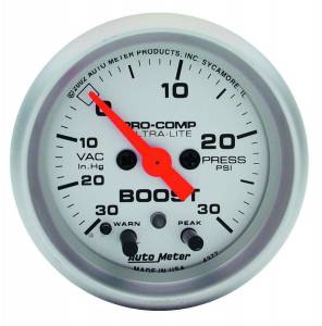 AUTO METER #4376 2-1/16in U/L Boost/Vac. Gauge 30in/15psi