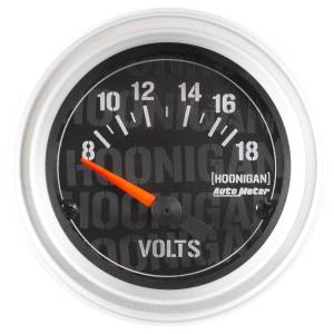 AUTO METER #4391-09000 2-1/16in  Voltmeter Gauge Hoonigan Series