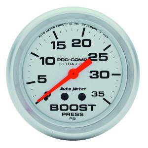 AUTO METER #4404 2-5/8in Ultra-Lite 0-35 Boost Gauge
