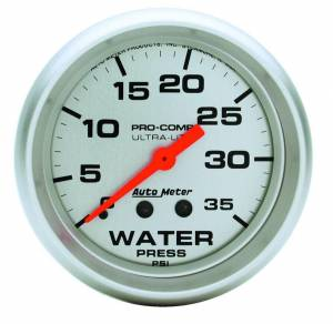 AUTO METER #4407 Water Pressure 0-35 PSI Mech.