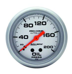 AUTO METER #4422 2-5/8in Mech Oil Pressure 0-200 Psi