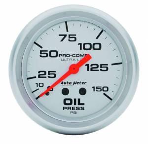 AUTO METER #4423 Ultra Lite 2 5/8in  Oil 0-150 PSI Mech.