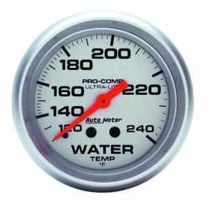 AUTO METER #4433 2-5/8 Ultra-Lite Water Temp 120-240 F.Mech 12FT