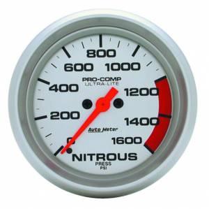 AUTO METER #4474 2-5/8in U/L Nitrous Press. Gauge 0-1600psi