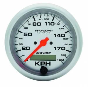 AUTO METER #4487-M 3-3/8in U/L Speedometer 190KPH Metric