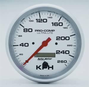 AUTO METER #4489-M 5in U/L Speedometer - 260KPH Metric