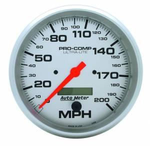 AUTO METER #4490 5in U/L Electric Speedo 0-200MPH