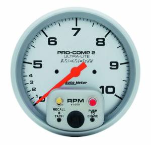 AUTO METER #4499 5in Dual Range Tach W/Mem.