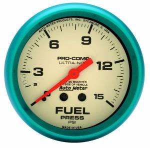 AUTO METER #4511 2-5/8 Ultra-Nite F/P Gauge 0-15psi