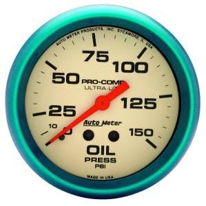 AUTO METER #4523 2-5/8 Ultra-Nite Oil Press. Gauge 0-150psi