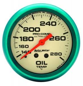 AUTO METER #4541 2-5/8 Ultra-Nite Oil Temp Gauge 140-280