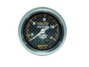 AUTO METER #4711 C/F 2-1/16in Fuel Press. Gauge 0-15PSI
