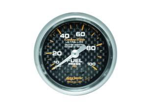 AUTO METER #4712 C/F 2-1/16in Fuel Press. Gauge 0-100PSI