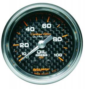 AUTO METER #4721 C/F 2-1/16in Oil Pressure Gauge 0-100PSI
