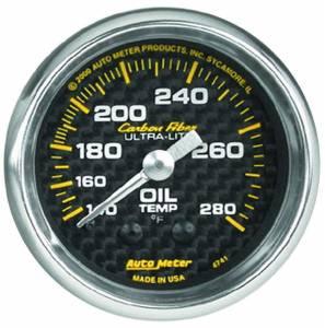 AUTO METER #4741 2-1/16in C/F Oil Temp. Gauge 140-280