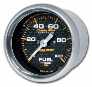 AUTO METER #4763 C/F 2-1/16in Fuel Press. Gauge 0-100PSI