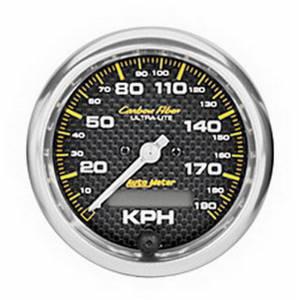 AUTO METER #4787-M 3-3/8 C/F 190KPH In-Dash Speedo