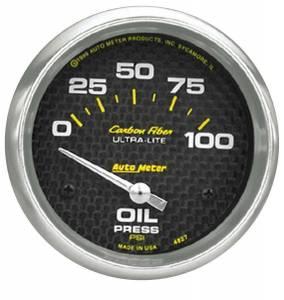 AUTO METER #4827 C/F 2-5/8in Oil Pressure Gauge 0-100PSI