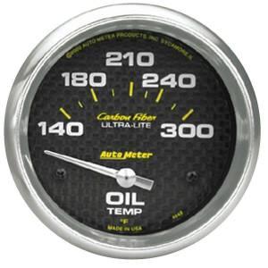 AUTO METER #4848 2-5/8in C/F Oil Temp. Gauge 140-300
