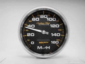 AUTO METER #4889 C/F 5in 160MPH In-Dash Speedometer