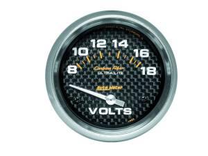 AUTO METER #4891 C/F 2-5/8in Voltmeter 8-18 Volts