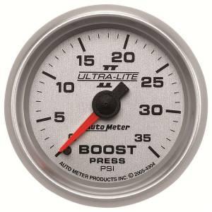 AUTO METER #4904 2-1/16in U/L II Boost Gauge - 0-35psi