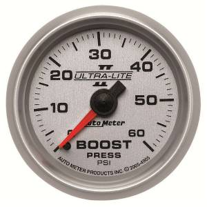 AUTO METER #4905 2-1/16in U/L II Boost Gauge 0-60psi