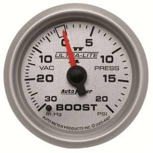 AUTO METER #4907 2-1/16in U/L II Boost / Vac Gauge 30/20