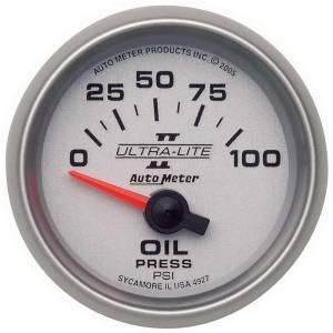 AUTO METER #4927 2-1/16in U/L II Oil Pressure Gauge 0-100psi