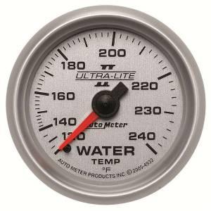 AUTO METER #4932 2-1/16in U/L II Water Temp. Gauge 120-240