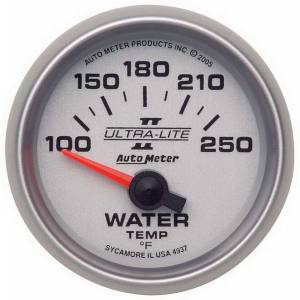 AUTO METER #4937 2-1/16in U/L II Water Temp. Gauge 100-250
