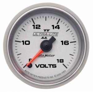 AUTO METER #4991 2-1/16 U/L II Voltmeter 8-18 Full Sweep