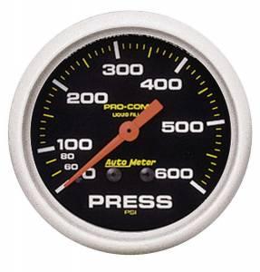 AUTO METER #5425 2-5/8in P/C Pressure Gauge 0-600psi