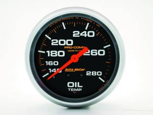 AUTO METER #5443 140-280 Oil Temp Gauge with 12ft Capillary Tube
