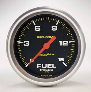 AUTO METER #5461 Pro Comp 2 5/8in Fuel 0-15 PSI Elec.