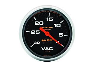 AUTO METER #5484 Vacuum  30 IN.Hg. LFG