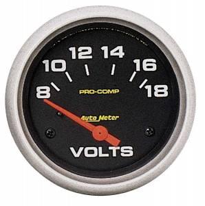 AUTO METER #5492 8-18 Volt Voltmeter